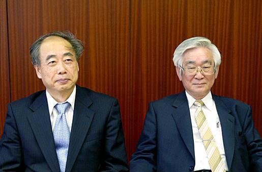 Макото Кобаяси и Тосихидэ Масукава