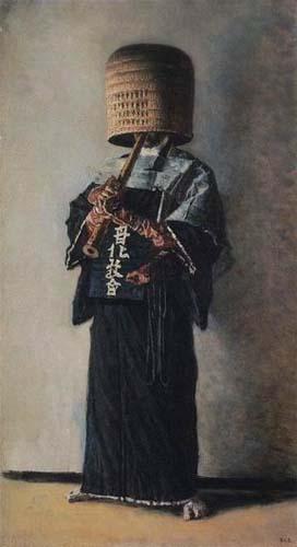Японский нищий. 1903 год. Холст, масло