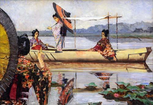 Прогулка в лодке. 1903 год. Холст, масло